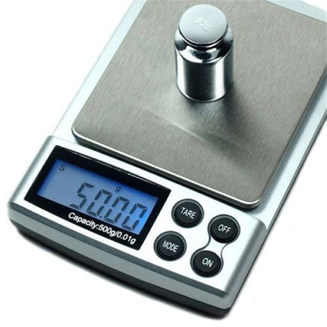 1vnt 500g x 0,01g skaitmeninės tikslios skalės aukso sidabro - Matavimo prietaisai - Nuotrauka 4