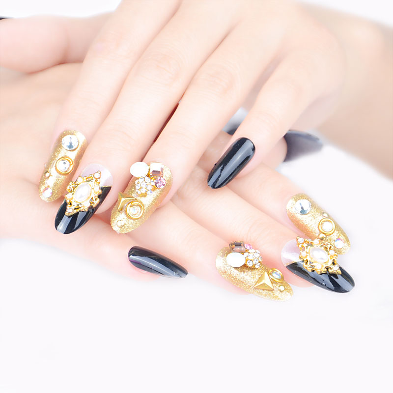 Aliexpress.com : Buy Hot 3D Flash Diamond False Nail Fashion Nail ...