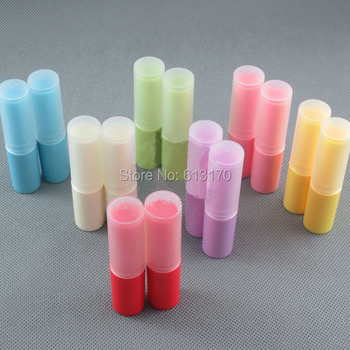 New Arrival 4g Lip balm Tubes Empty lip stick tube DIY lip gloss Packing container Colorful color