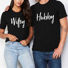 Couples Hubby And Wifey Printed T-Shirts