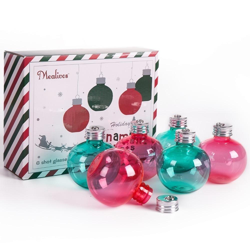 Mealivos 6pcs / lot צלוחיות 4 oz פלסטיק ירך בקבוק מיץ בקבוק ויסקי בקבוקי השושבינה מתנות