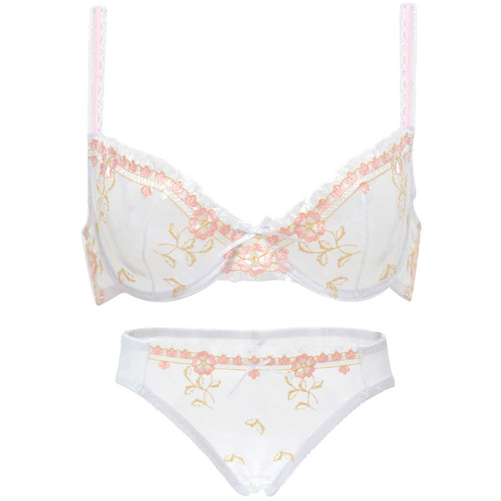 b677474993 Hot bra panty SALE SEPARATELY women floral lace bralette underwear mesh crop  top transparent A B C D E F sexy