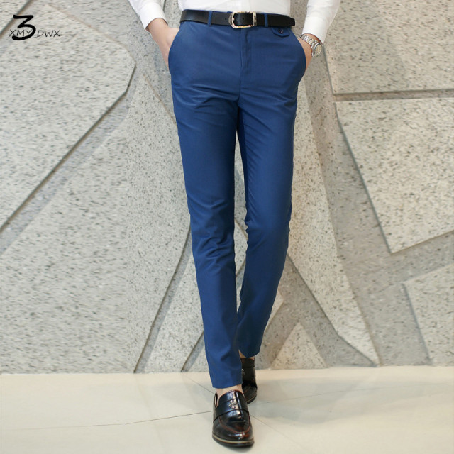 XMY3DWX fashion men Pure color business Suit pants/Male high-end High quality leisure trousers/Men casual pants