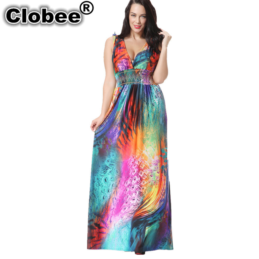 64029d76b Clobee mujeres Ucrania primavera Elegante ropa Bohemia V cuello flor ...