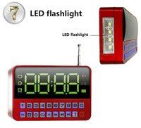 Kk60 с большой светодиодный Экран дисплея TF \ Micro SD USB Динамик MP3-плееры fm Радио времени часы будильник светодиодный фонарик