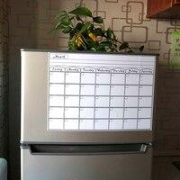 Durable horario mensual Writeboard suave adhesivo magnético para nevera escribir planes mensaje junta para practicar la escritura