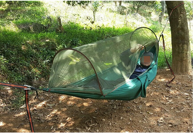 ФОТО New Portable Tactical 200kg Maximum load Travel Camping Outdoor Waterproof Fabric Hammock Hanging Nylon Bed + Mosquito Net