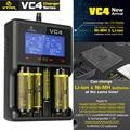 XTAR Carregador VC4 Universal Tela Lcd USB Ni-MH/Ni-CD Bateria Li-ion 14500/16340/18650/22650/26650/32650 Carregador de Bateria