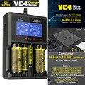 XTAR VC4 Pantalla LCD Cargador Universal USB Ni-MH/Ni-cd Li-ion 14500/16340/18650/22650/26650/32650 Cargador de Batería