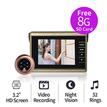 Free Shipping 3 2 HD Screen Smart Video Rocording Wireless font b Door b font Bell