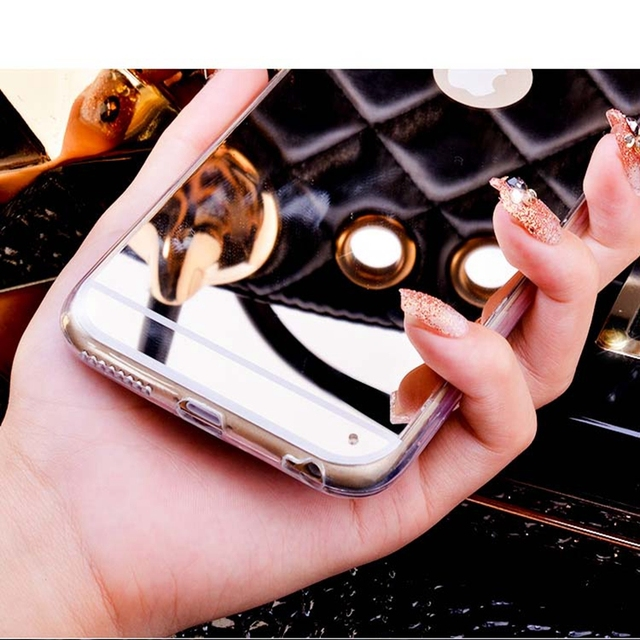 For iPhone 5 5s SE 6 6s 7 Plus Plating Mirror Phone Case for Samsung Galaxy A5 A7 J5 J7 2015 A3 2016 S3 S4 S5 S6 S7 Edge Cover