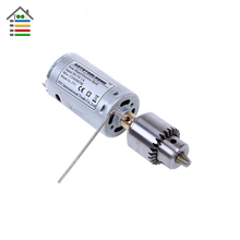 Mini DC 12V Electric Hand Drill Motor PCB Press Drilling Compact Set 10PC 0.5-3mm Twist Bits Profession 0.3-4mm JT0 Chucks Tool