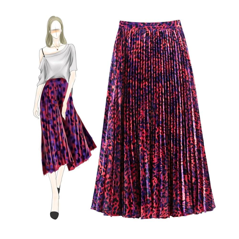 Летняя женская модная плиссированная юбка с принтом A086