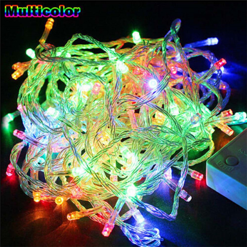 LED String Light 5M 10M 20M 30M 50M 100M EU Plug AC220V Xmas Holiday Light Waterproof Christmas Lights 9 Colors Decoration Lamp