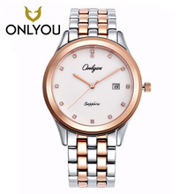 ONLYOU lover's ultra thin Simple watch women Dess Clock Casual Women Watch Quartz  Men Sports WristWatch Rose gold/black watches