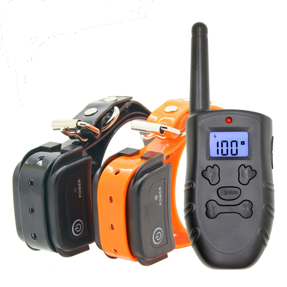 free shipping 300m Remote  Rechargeable And Waterproof Electronic Dog Training Collar H183DR With LCD Display Support 3 Dogs New pet safe electronic shock vibrating dog training collar with remote control 2 x aaa 1 x 6f22 9v