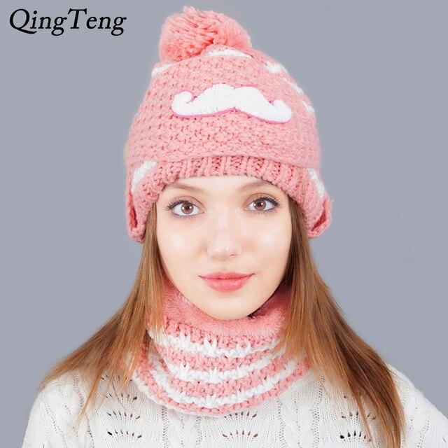 Maglia Berretto Sciarpa Scaldacollo Inverno Cappelli Per Le Donne Autunno  Femminile cappello Berretto di Lana A 61089c881453