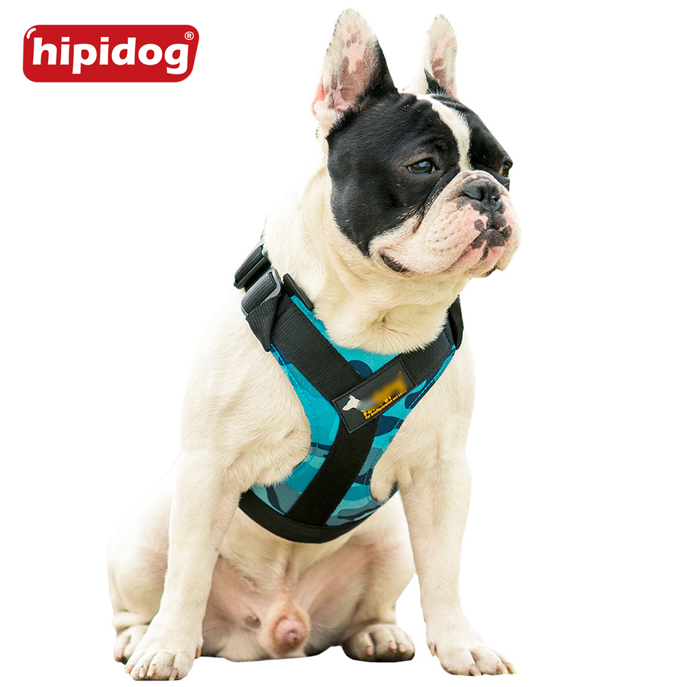 Hipidog Soft Padded Adjustable Durable Outdoor Dog Puppy Nylon Mesh Vest Harness Chest Strap 8 Colors For Large Medium Dogs Pets