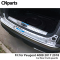 CNparts для Peugeot 4008 2017 2018 авто задний багажник двери Бампер анти полоски от царапин аксессуары