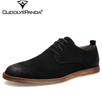 CuddlyIIPanda 2018 Spring Fashion Design British Style Men Oxfords Shoes Cow Suede Leather Casual Shoes High