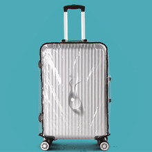 PVC Transparent Gepäck Schutzabdeckung Beständigen Wasserdichten Koffer Staubschutz Für Stamm Fall Zubehör Liefert Produkte