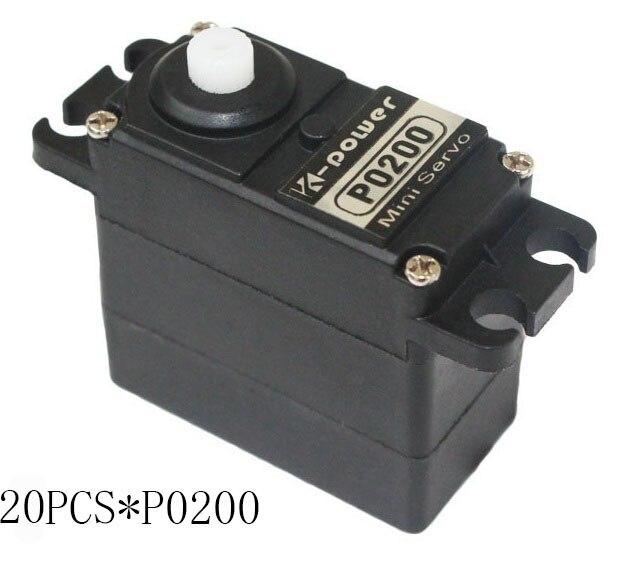 20 pièces k-power P0200 Servo analogique 3 kg JR prise en plastique servo taille Standard servo pour pièce modèle RC