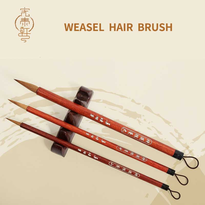 3pcs/set Excellent Quality Chinese Calligraphy Brushes Pen For Woolen And Weasel Hair Writing Brush Suitable For Student School top grade high quality masters pen the fine quality goods of brushes boxed gift calligraphy brushes pen chinese brushes gift
