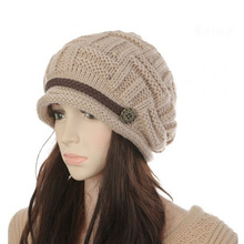 Women's Hats Winter Female Autumn Fashion Thermal Knitted Winter Hat Female Ear Women's Knitted Hats Girls Caps Beanie