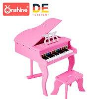 Onshine детский моделирования фортепиано 30 ключ полноценно фортепиано деревянный инструмент с фортепиано спектра дети учатся образование игр