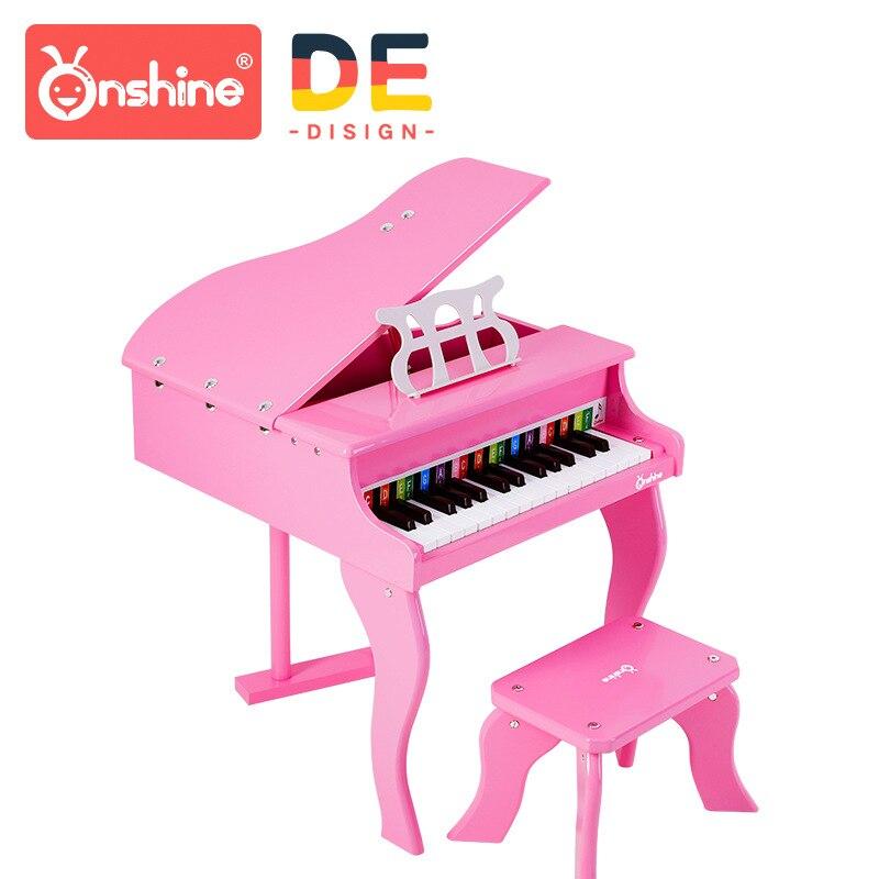 Onshine per bambini di simulazione pianoforte 30 chiave di alta qualità strumento di legno con spettro di pianoforte per bambini giocattoli educativi di apprendimento 3Y +