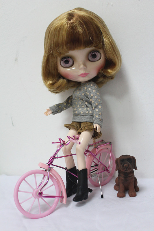 Free Shipping big discount RBL-174DIY Nude Blyth doll birthday gift for girl 4colour big eyes dolls with beautiful Hair cute toy big beautiful eyes косметический набор косметический набор big beautiful eyes