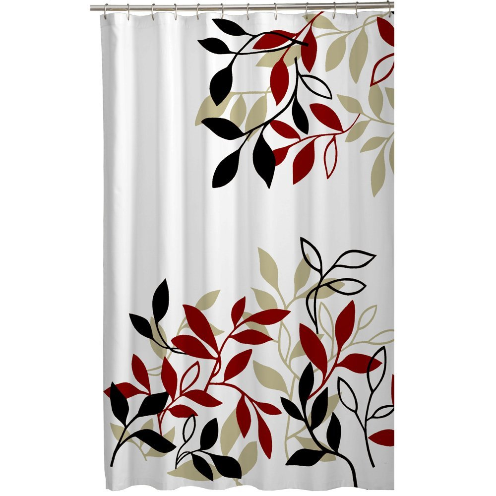 Maytex Mills Satori Fabric Shower Curtain Red Waterproof And Mildew Resistant Bath In Curtains From Home Garden On Aliexpress