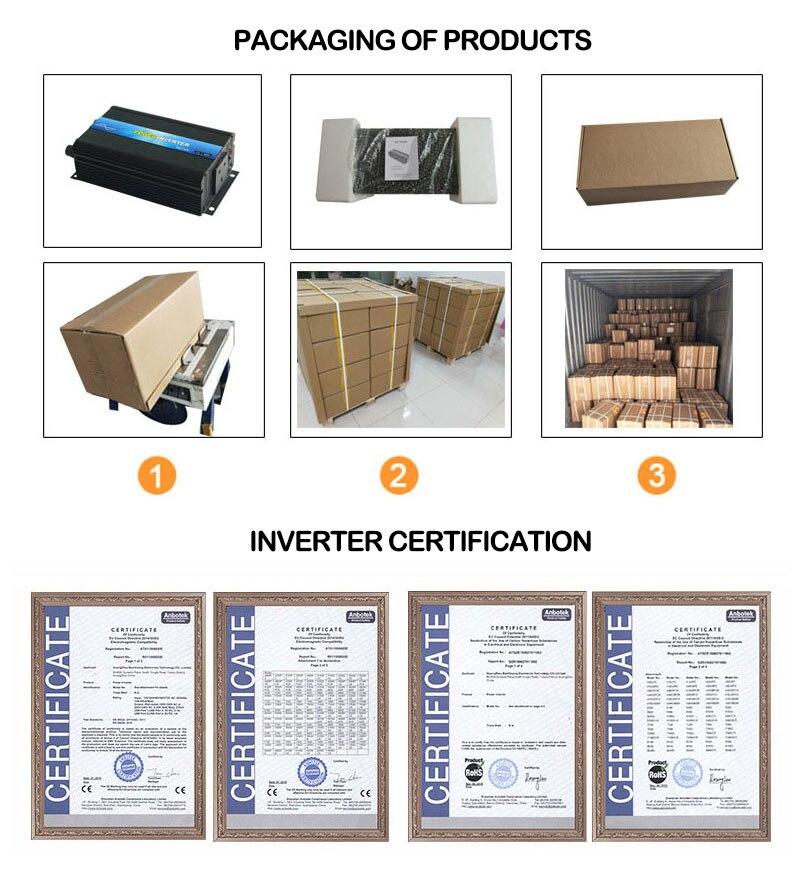 Инвертор 12 v 220 v 1500 W/3000 W Чистая Синусоидальная волна инвертор преобразователь пик 3000 W в мульти-защиты