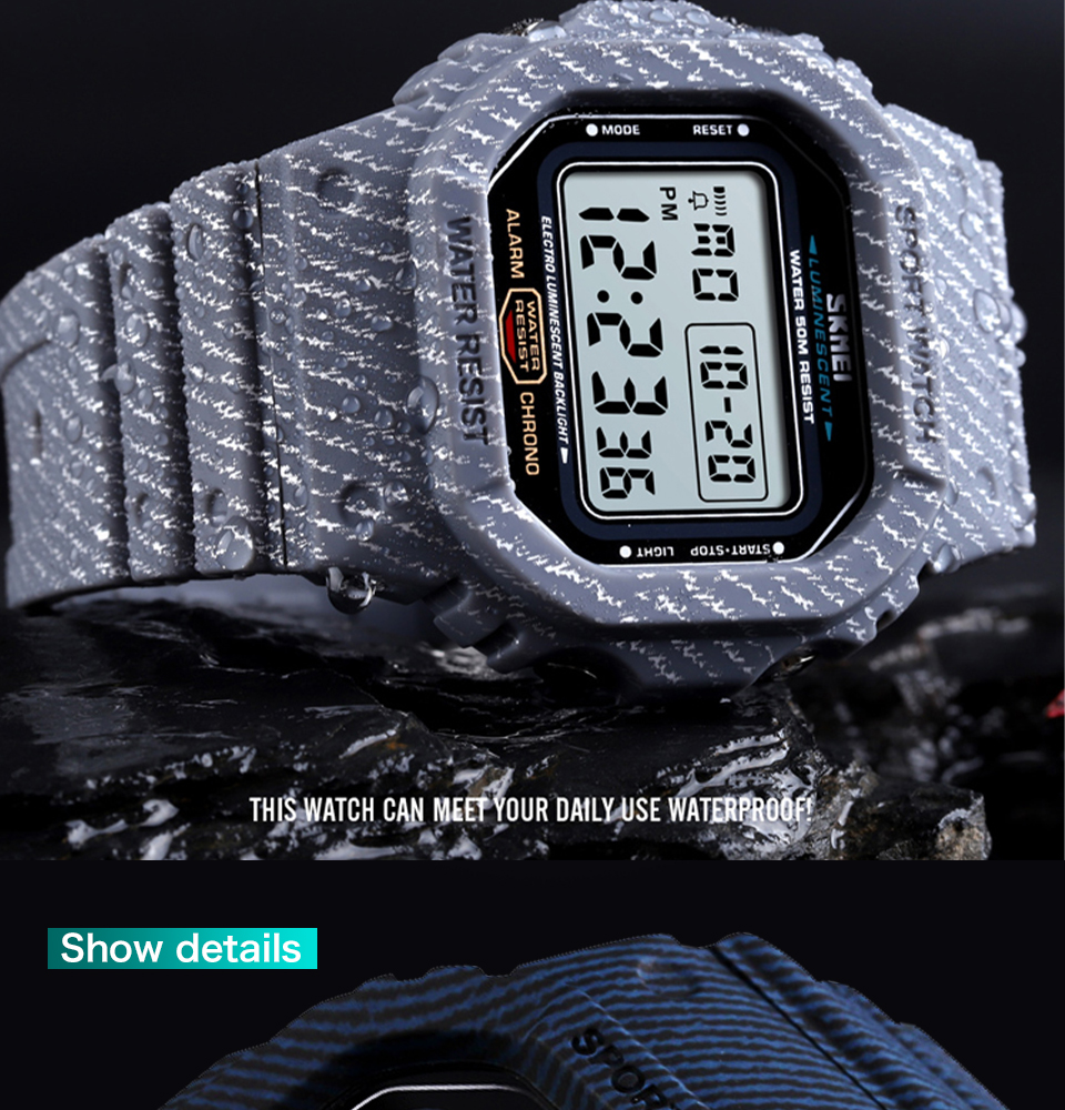 SKMEI Outdoor Sport Watch Men Digital Watch 5Bar Waterproof Alarm Clock Cowboy Military Fashion Watches relogio masculino 1471 HTB1VFMKM3HqK1RjSZFgq6y7JXXaT