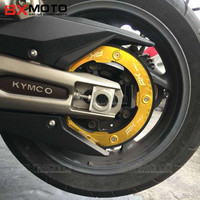 With Logo AK550 High Quality Motorcycle Part Aluminum Transmission Belt Pulley Protective Cover For KYMCO AK550