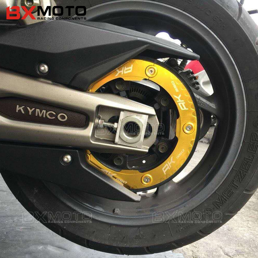 with logo AK550 High Quality Motorcycle Part Aluminum Transmission Belt Pulley Protective Cover For KYMCO AK550 AK 550 2017 2018 high quality new driver side airbag cover for glk w204 glk300 glk350 airbag cover dab cover with logo