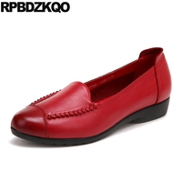 large size 11 red slip on designer china lightweight round toe 10 flats women yellow elderly 2018 wide fit shoes ladies chinese