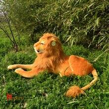 Чучела животных 70 см плюшевые моделирование лев игрушки куклы большой подарок бесплатная доставка w309