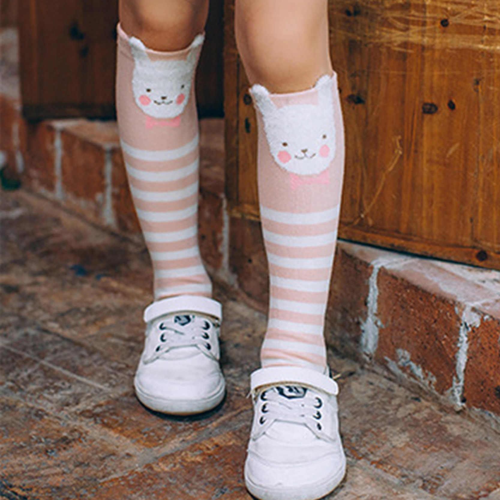 85a0a4f5b Detail Feedback Questions about Cotton Knee High Socks For Kids Girl Cute Panda  Cat Fox Cartoon Long Socks Children Winter Boot Socks on Aliexpress.com ...