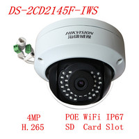Hikvision 4MP DS 2CD2145F IWS H 265 WIFI POE Dome IP Camera Replace DS 2CD2142FWD IWS