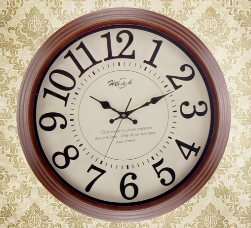 Genuine Large European Retro Wall Clock Mute Creative Home Decoration Brown Solid Wood High Quality 16 Inches In Clocks From Garden