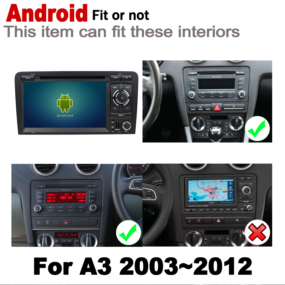 IPS Android 2 DIN Car DVD GPS For Audi A3 S3 8P 2003 2012 MMI Navigation multimedia player Stereo radio WiFi system in Car Multimedia Player from Automobiles Motorcycles