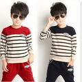 Whoelsale Teenage Boy Clothing Set Autumn New 2016 Kids Girls Clothes Sports Suit Long Sleeve Top & Pants 2 pcs Red Blue