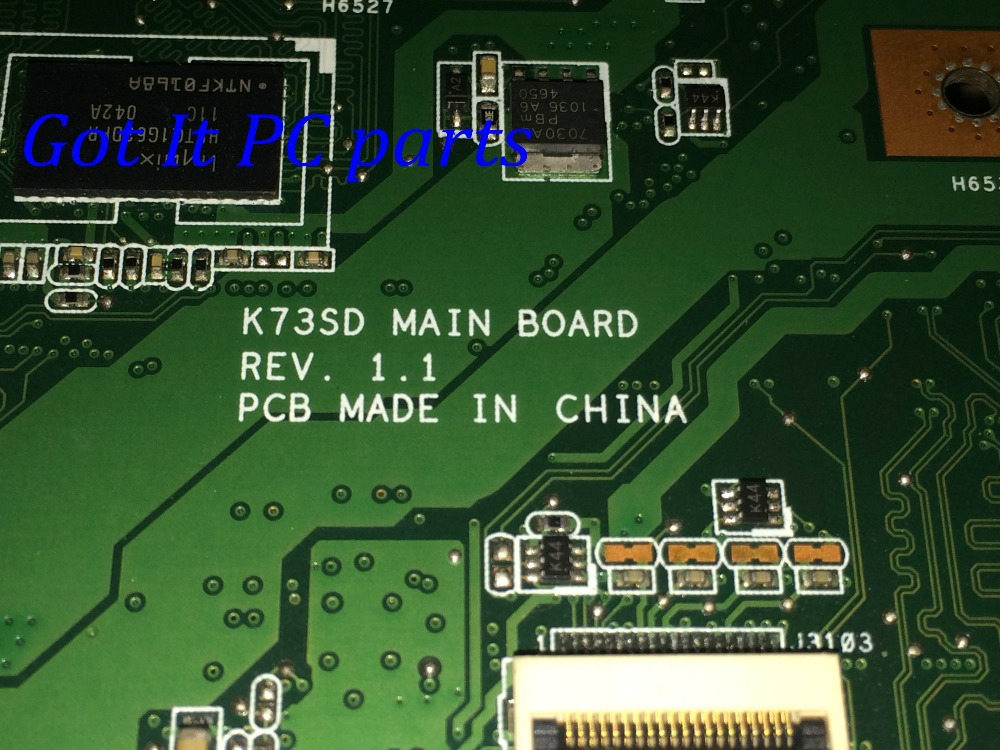 NEW FREE SHIPPING LAPTOP MOTHERBOARD K73SD Rev: 1.1 90 DAYS WARRANTY .. PROMISED WOKRING