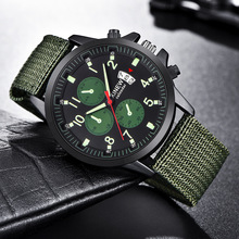 Fashion Brans XINEW Watch Men Watches Luminous Nylon Band Military Sport Relogio Masculino 2019