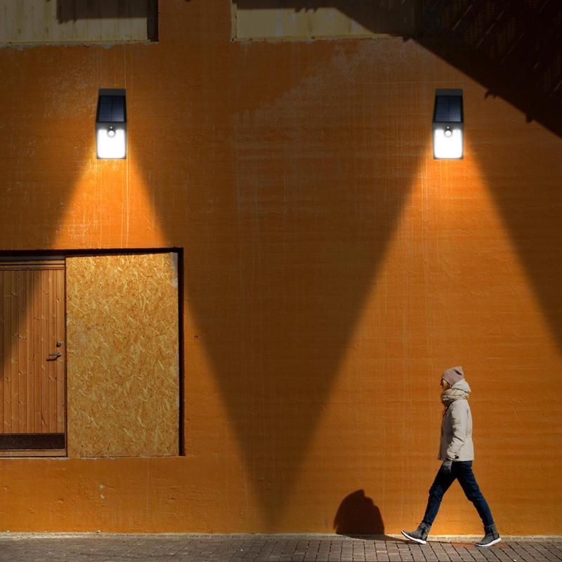 Outdoor Solar Lamp LED Wall Light Waterproof PIR Motion Sensor Lighting Night Garden Lights Solar Powered Lamps Security Light in Solar Lamps from Lights Lighting