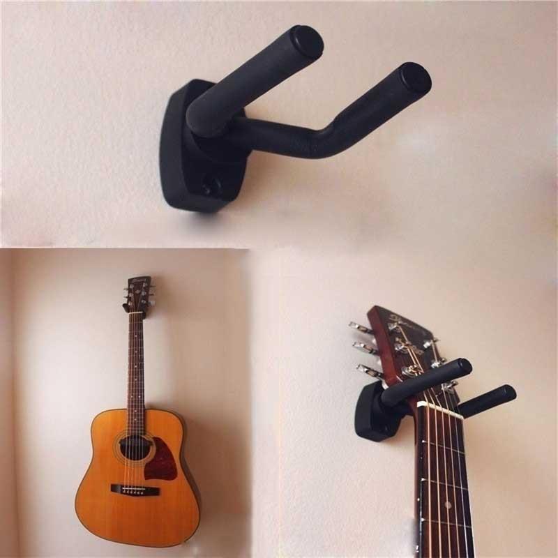 Подставка для гитары настенный гитарный Gitar держатель с крючком подставка для настенного монтажа стойка Кронштейн Дисплей Гитара Бас винты...