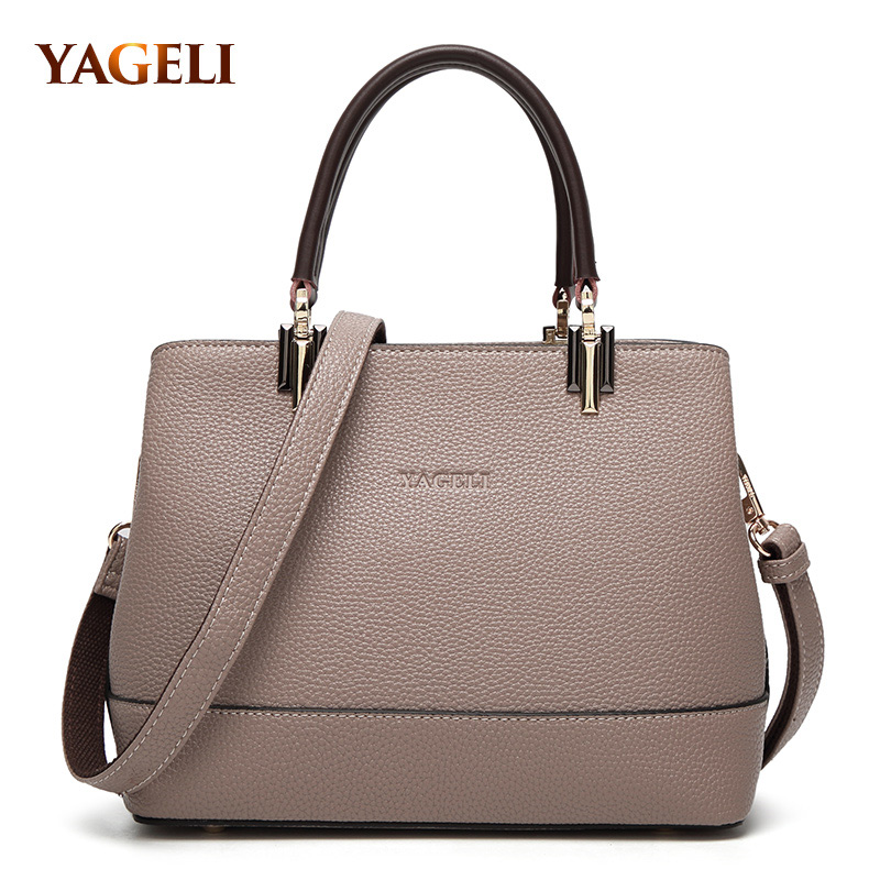 real genuine leather women's handbags luxury handbags women bags designer famous brands tote bag high quality ladies' hand bags 2017 new arrival designer women leather handbags vintage saddle bag real genuine leather bag for women brand tote bag with rivet