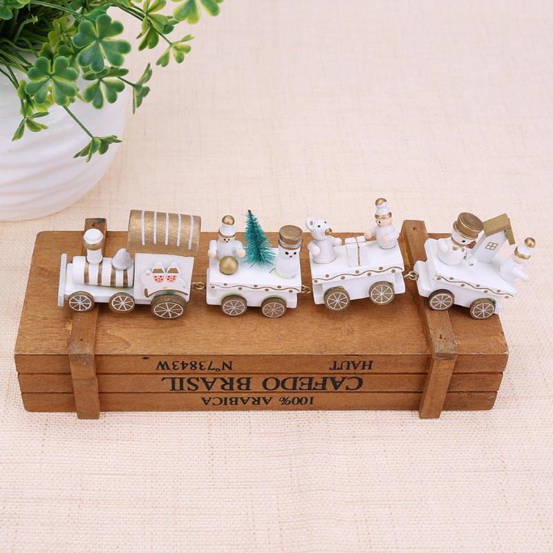 Деревянный игрушечный поезд детей Navidad подарок дома Украшение стола для Рождество вечерние празднование Новый год подарок