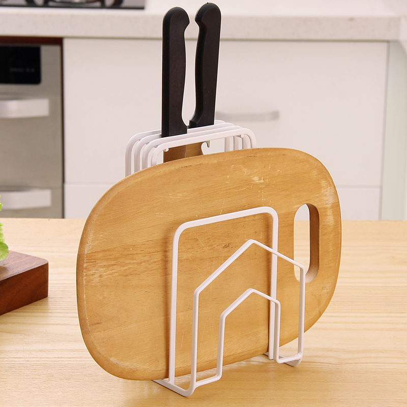 2017 Top Fashion Direct Selling Metal Tools Prateleira European Dish Chopping Board Rack Tool Storage Shelf Seat Kitchenware